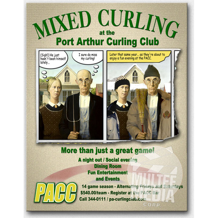 Port Arthur Curling Club Poster