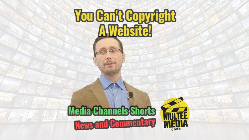 You Can't Copyright A Website